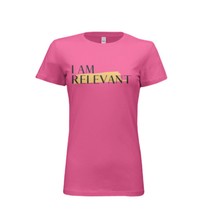 Berry Pink Women's Bella Crewneck Slim Fit,